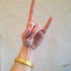 Ross-Simons Jewelry - 24k Gold Leaf Lucite Bangle Bracelet NWOT